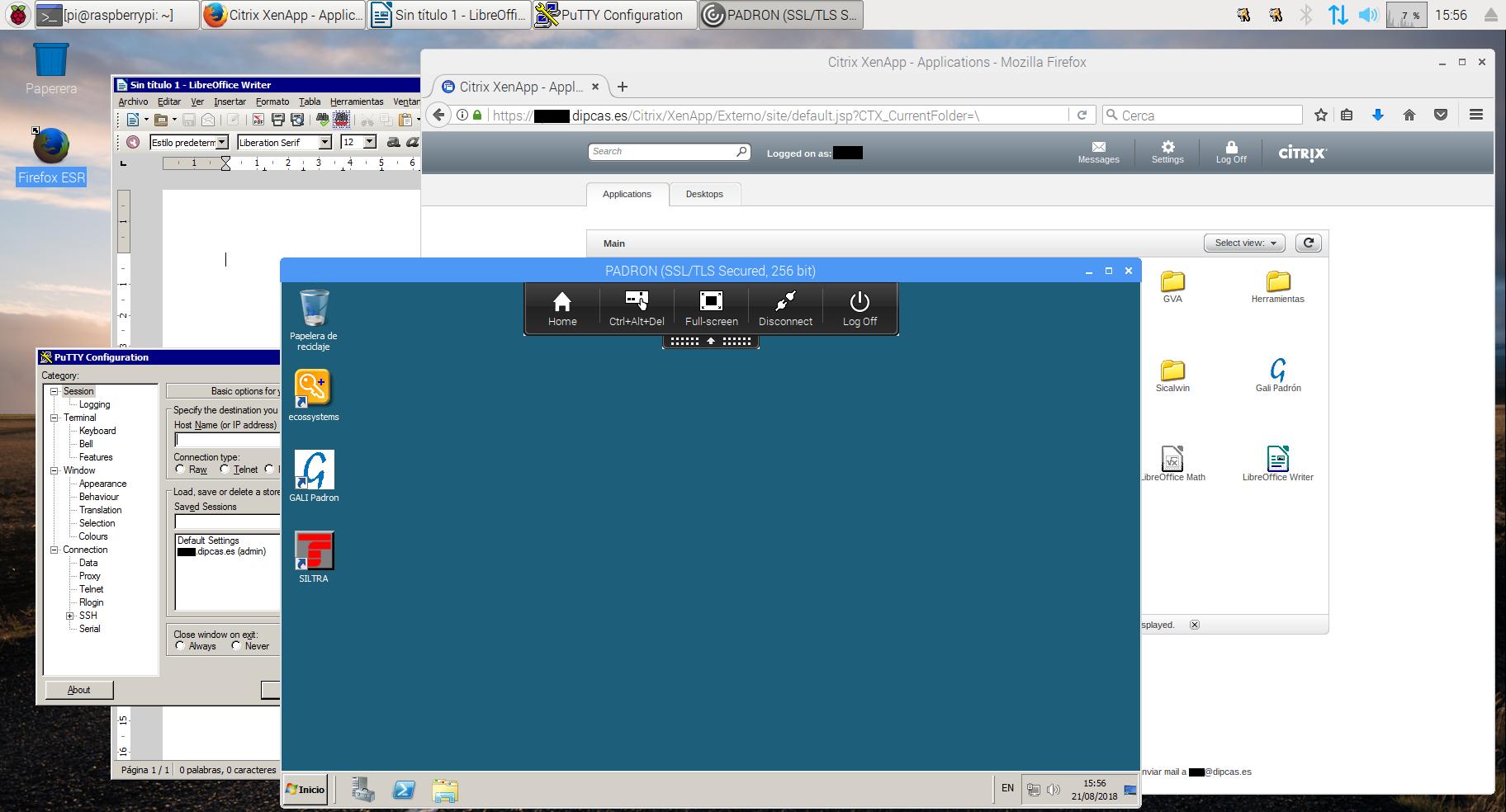 Configurant la Raspberry Pi 2 com a Thinclient amb Raspbian + CITRIX i accedint amb un certificat digital