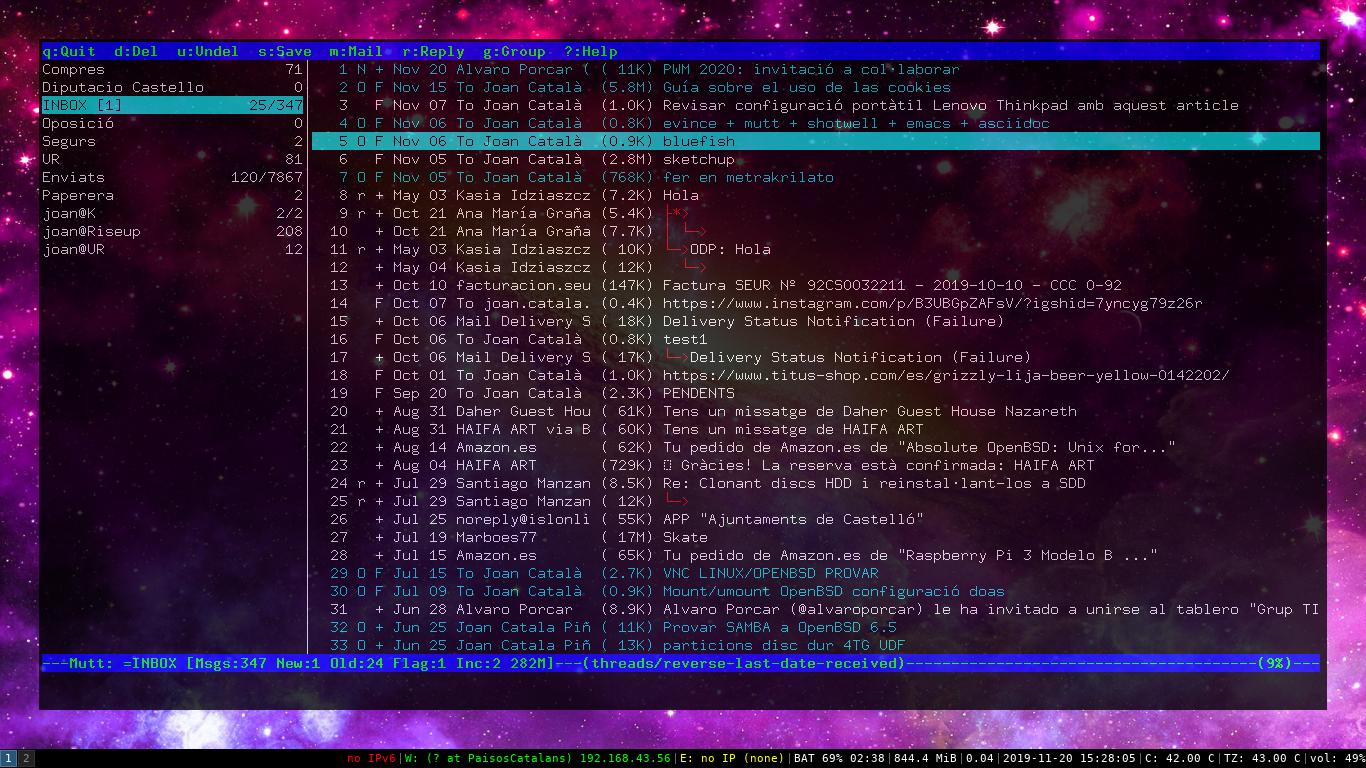 OpenBSD imap Gmail Mutt cliente correo